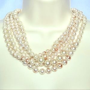 Multi-strand Pearl Necklace by J Crew